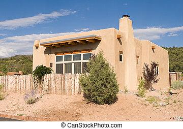 Adobe Single Family Home Suburban Santa Fe NM