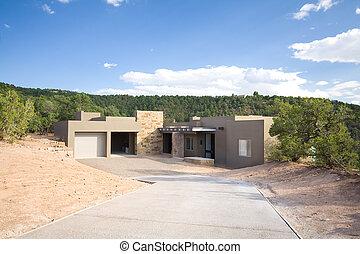 Adobe Single Family Home Suburban Santa Fe NM - New single...