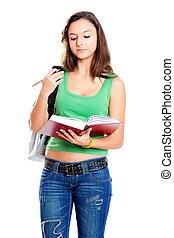 adolescent, étudiant