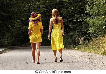 adolescent, 2, femme relâche