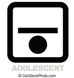 Adolescent conceptual graphic icon