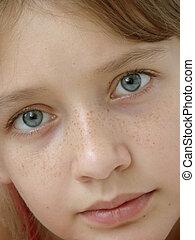 adolescent girl - portrait of the pretty adolescent girl