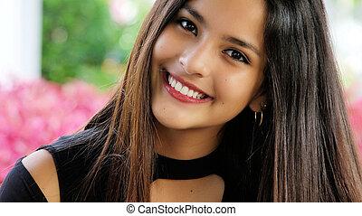 adolescent, hispanique