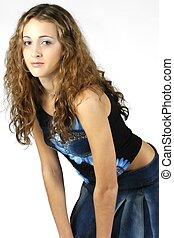 adolescent, modèle, 7