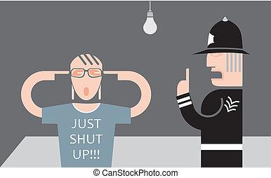 adolescent, policier