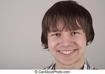 adolescent, portrait, closeup, garçon