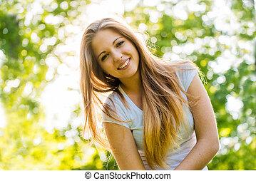 adolescent, portrait, girl