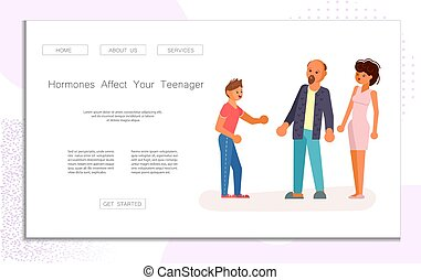 adolescent, relation, parents