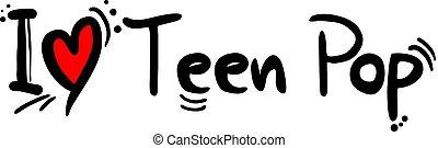 adolescent, style, musique, pop