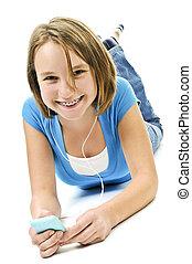adolescente, écouter musique