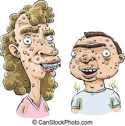 adolescente, acne