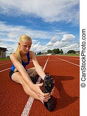 adolescente, atleta