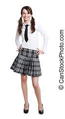adolescente, colegiala