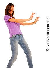 adolescente, danse