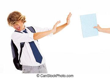 adolescente, desagrado, estudo, estudante