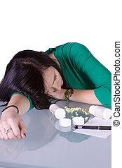 adolescente, droga, problema, -, sobredosis