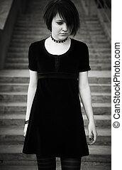 adolescente, gótico