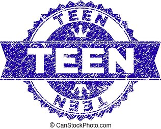 adolescente, grunge, selo, textured, selo, fita