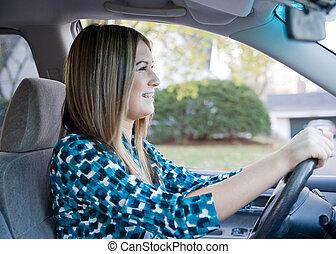 adolescente, guida