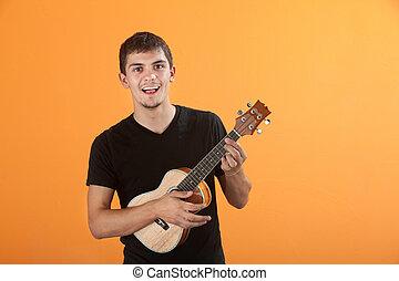 adolescente, guitarrista