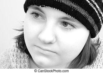 adolescente, inverno