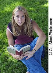 adolescente, lectura