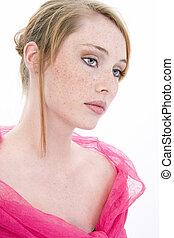 adolescente niña, retrato