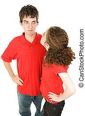 adolescente par, discusión