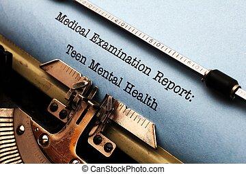 adolescente, salud mental