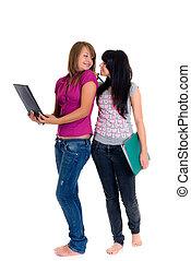 adolescente, schoolgirls