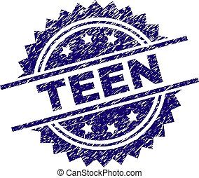 adolescente, selo, textured, grunge, selo