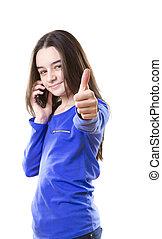 adolescente, smartphone
