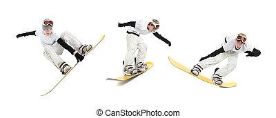 adolescente, snowboarder