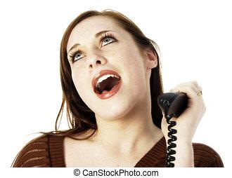 adolescente, teléfono