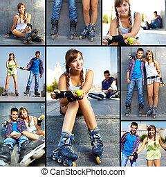 adolescentes, ao ar livre