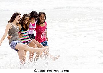 adolescentes, feliz