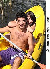 adolescentes, kayaking