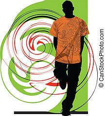adolescenti, illustrazione
