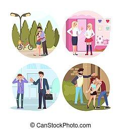 adolescenti, set, genitori