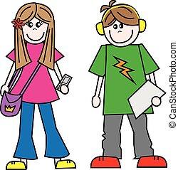 adolescents, gens, ados, jeune