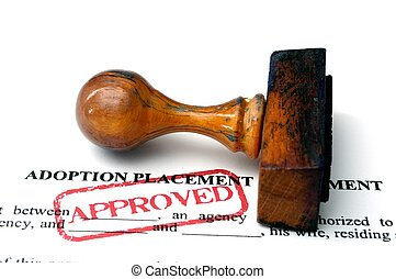 adopción, colocación, acuerdo