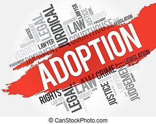 adopción, palabra, nube