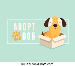 Adopt a dog banner design