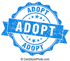 adopt blue vintage isolated seal