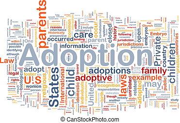 Adoption background concept - Background concept wordcloud ...