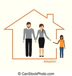 adoption of a girl family in a house