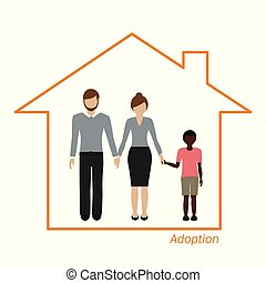 adoption of an african boy family in a house