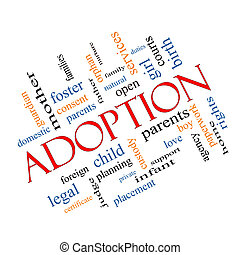 Adoption Word Cloud Concept Angled with great terms such as...
