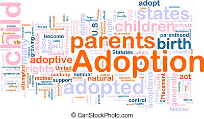 Adoption word cloud - Word cloud concept illustration of ...