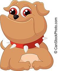 adorável, caricatura, cão
